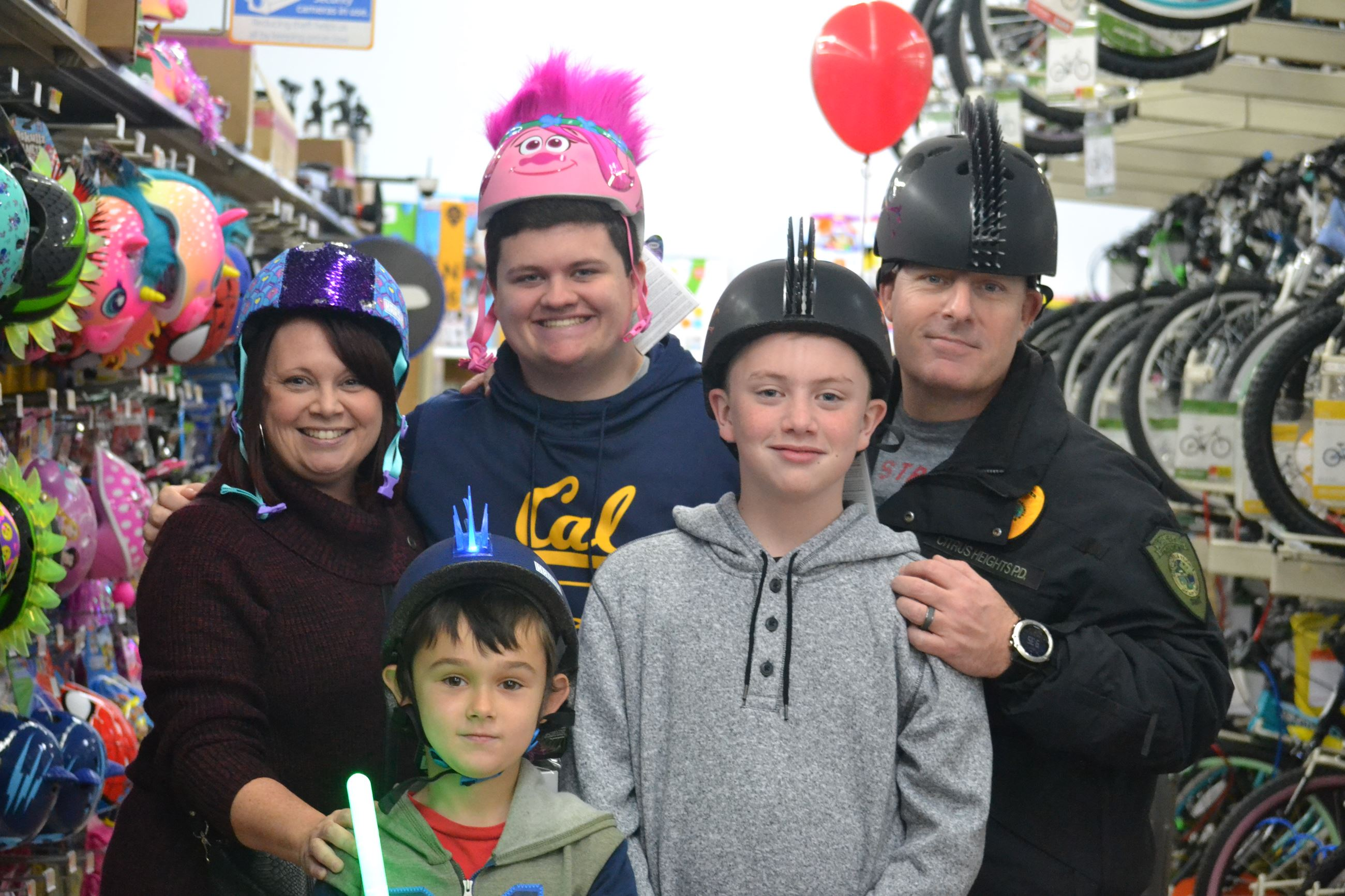 Children Shopping with Sergeant Lewis