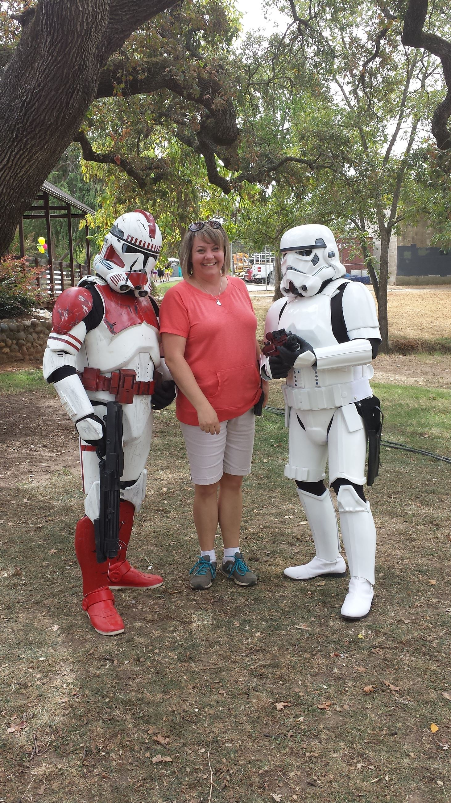 Posing with Stormtroopers